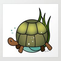 Turtle in a Circle Art Print