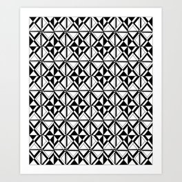 Symetric triangle 10 -vichy, gingham,strip,triangle,geometric, sober,tartan,mandala Art Print