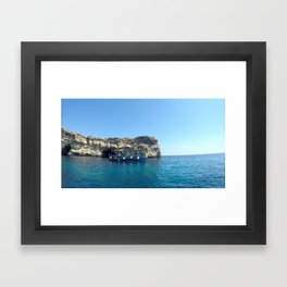 Summer sail Framed Art Print