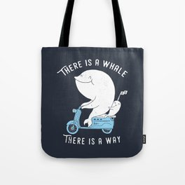 There is a whale Tote Bag