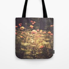One Rose in a Magic Garden (Vintage Flower Photography) Tote Bag