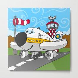Funny Airplane Metal Print