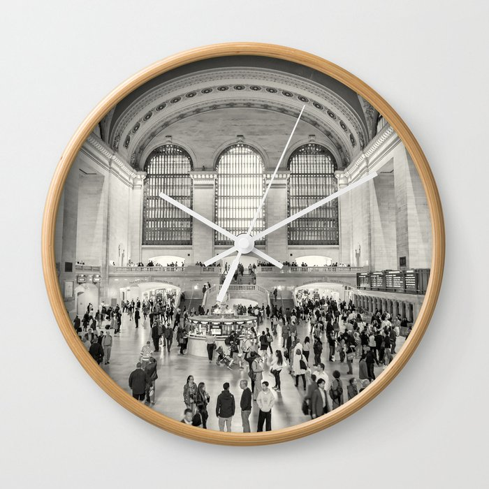 Grand Central Terminal Monochrome Wall Clock By Belindagreb Society6