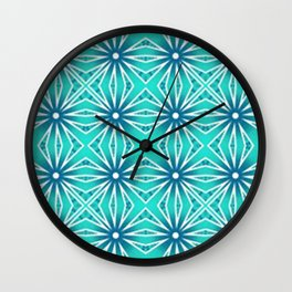 Larimar Blue Star Wall Clock