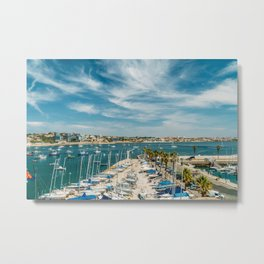 Luxury Yachts And Boats In Cascais Port At Atlantic Ocean, Wall Art Print, Luxury Resort Art, Poster Metal Print