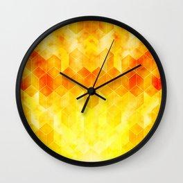 Smoke and Fire Wall Clock