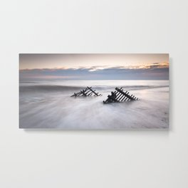 Sunrise at Caistor Windfarm Metal Print