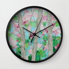 Dancing Cherry Blossom Trees Wall Clock