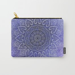 purple mandala of hearts Carry-All Pouch