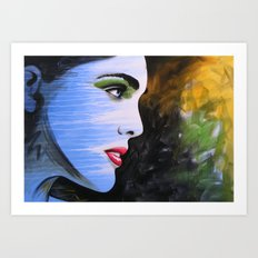 Abstract Original Girl Woman Painting...BECOME Art Print