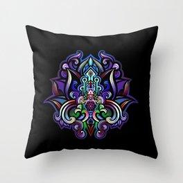 lotus heart temple Throw Pillow