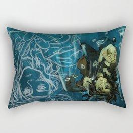 Falling into the dark Rectangular Pillow