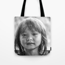 Portrait_The Malaysian borneo native kid Tote Bag