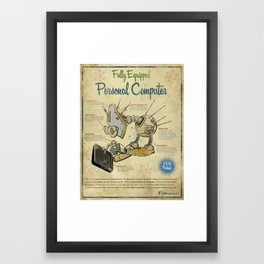 Personal Computer - Canvas Framed Art Print