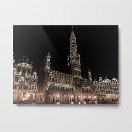 Grote Markt, Belgium Metal Print