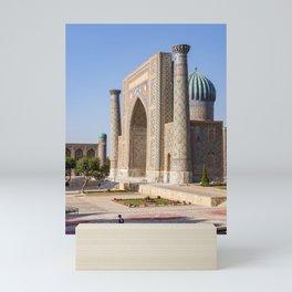 Registan square in Samarkand Mini Art Print
