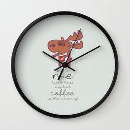 need coffee!!! Wall Clock
