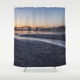 Siuslaw River Bridge and Florence at Dusk, No. 2 Shower Curtain