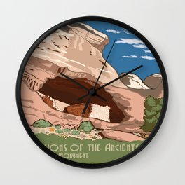 Vintage poster - Canyons of the Ancients Wall Clock