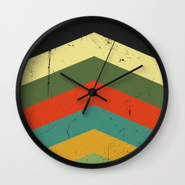 Grunge chevron Wall Clock