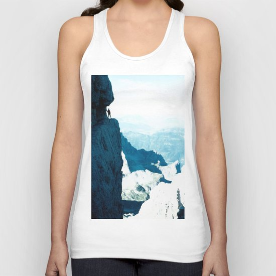 Almost there #Mountain #1 #art #society6 Unisex Tank Top