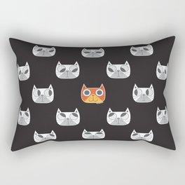 We are watching you. MEOW!!! Rectangular Pillow