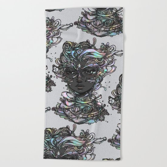 Interplay of Color Beach Towel