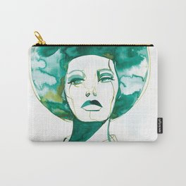 Green Afro Queen Carry-All Pouch