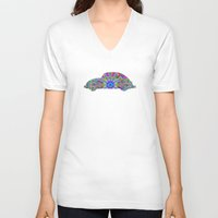 bug V-neck T-shirts featuring Bug by HebeTees
