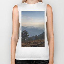 Blue dreams III. Misty mountains Biker Tank