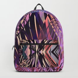 PRETTY PINK SWEEPING LINE PATTERN Backpack