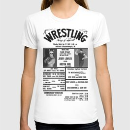 #10 Memphis Wrestling Window Card T-shirt