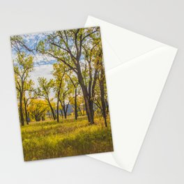 Cottonwoods, Theodore Roosevelt NP, ND 2 Stationery Cards