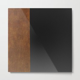 Carbon Leather Mix Metal Print