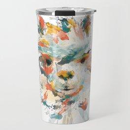 + Watercolor Alpaca + Travel Mug