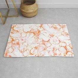 Orange Marbled Watercolor #decor #society6 Rug