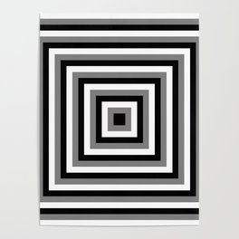 Black and White Squares Poster
