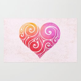 Swirly Hearts Rug