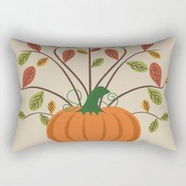 Fall Pumpkin Rectangular Pillow