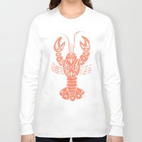 lobster Long Sleeve T-shirts featuring Lobster by NoelleGobbi