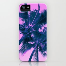 Palm Trees Pink iPhone Case