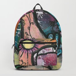Bloom under sun moon and stars Backpack