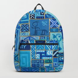 Upcycle #6 Old gods abstract oil painting Backpack