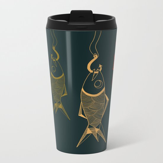 those are not fishes Metal Travel Mug