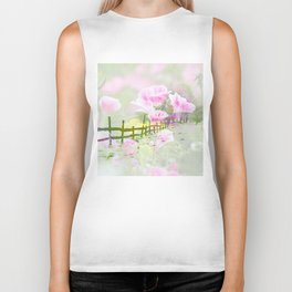 A Touch Of Spring In A Winter Landscape By Annie Zeno  Biker Tank