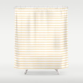 Yellow Scallop Shower Curtain