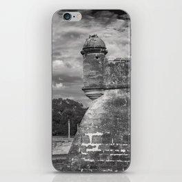 Castillo de San Marcos - black and white iPhone Skin