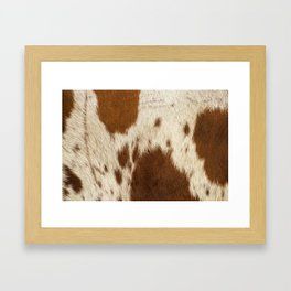 Pattern of a Longhorn bull cowhide. Framed Art Print
