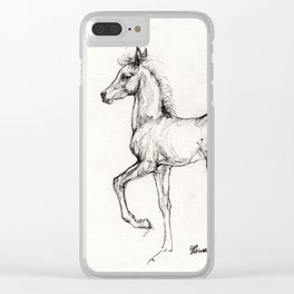 Prancing foal Clear iPhone Case