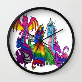 Unlesh your inner dragon Wall Clock